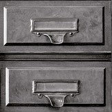 Albany Vintage Drawers Grey Wallpaper