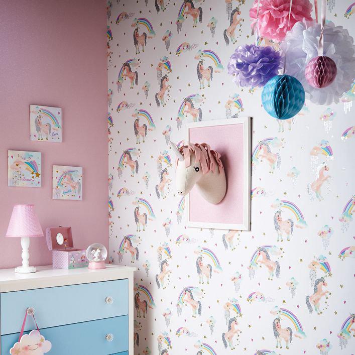 Arthouse Ursula the Unicorn White / Pink Art extra image