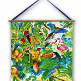 Arthouse Jungle Mania Scroll Multi-coloured Art