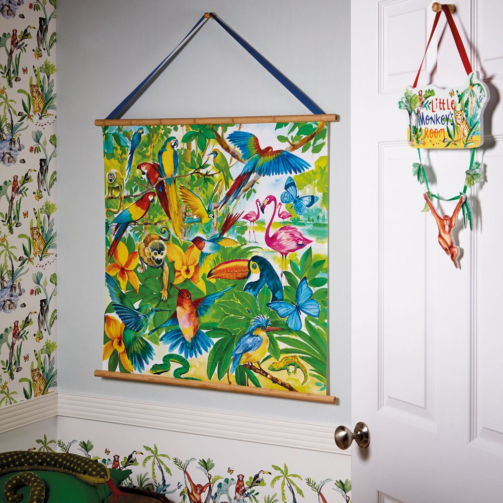 Arthouse Jungle Mania Scroll Multi-coloured Art extra image