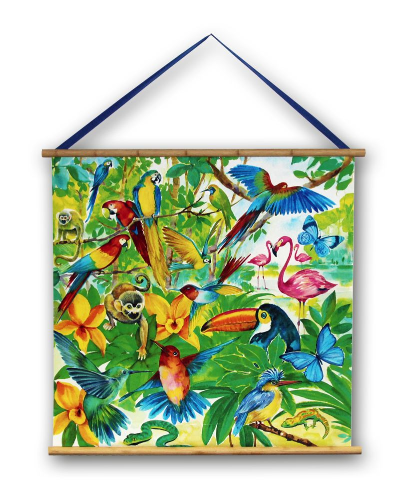 Arthouse Jungle Mania Scroll Multi-coloured Art main image