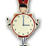 Arthouse Drummer Boy Clock Red
