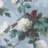 The Vintage Collection Heritage Bird Print Blue Wallpaper