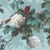 The Vintage Collection Heritage Bird Print Duck Egg Wallpaper