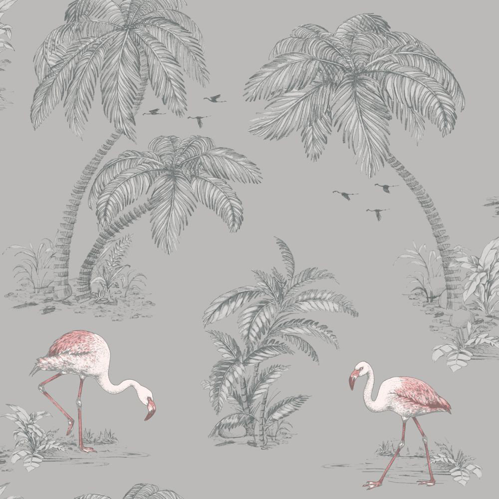 Albany Flamingo Lake Grey Wallpaper - Product code: 12381