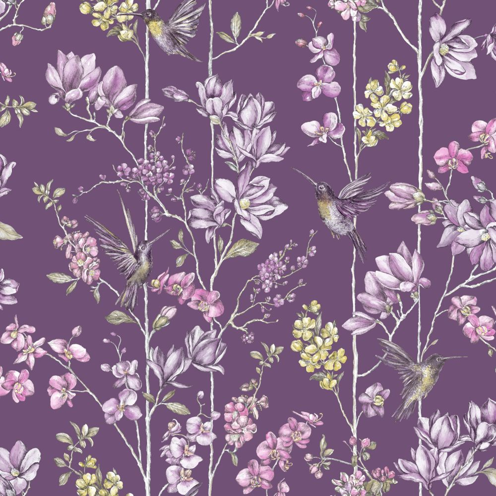 Albany Charm Plum Wallpaper - Product code: 12392