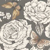 Albany Primrose Charcoal Wallpaper