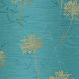 Arthouse Kimora Teal / Gold Wallpaper