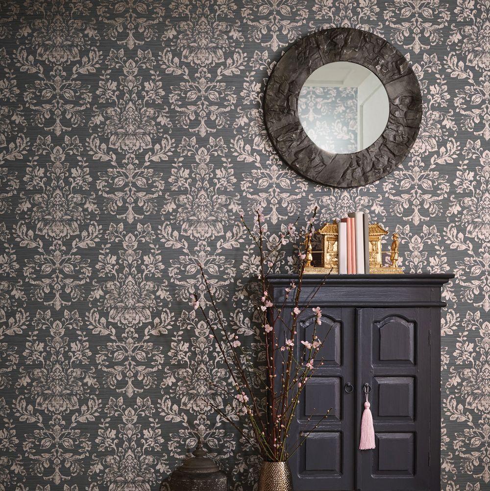 Kyasha Wallpaper - Rose Gold - by Arthouse