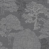 Arthouse Meili Gunmetal Silver Wallpaper