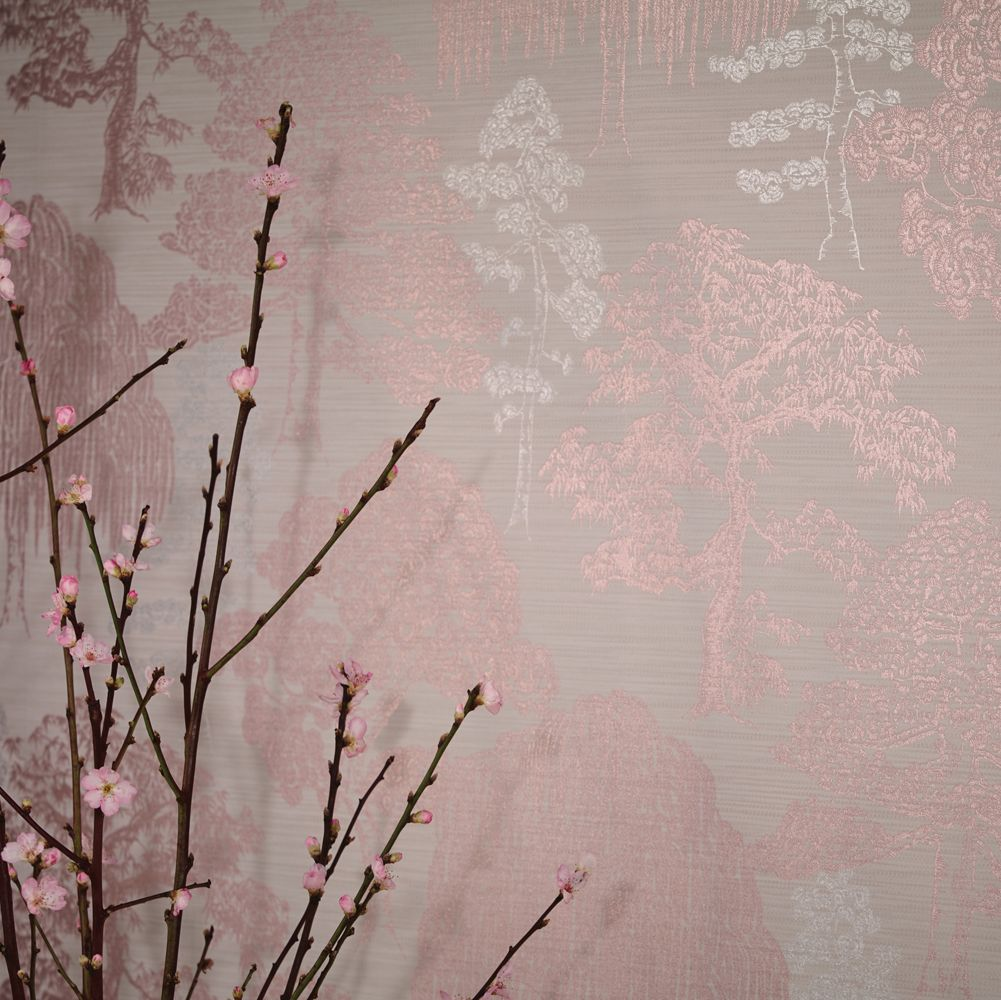 Meili Wallpaper - Rose Gold - by Arthouse
