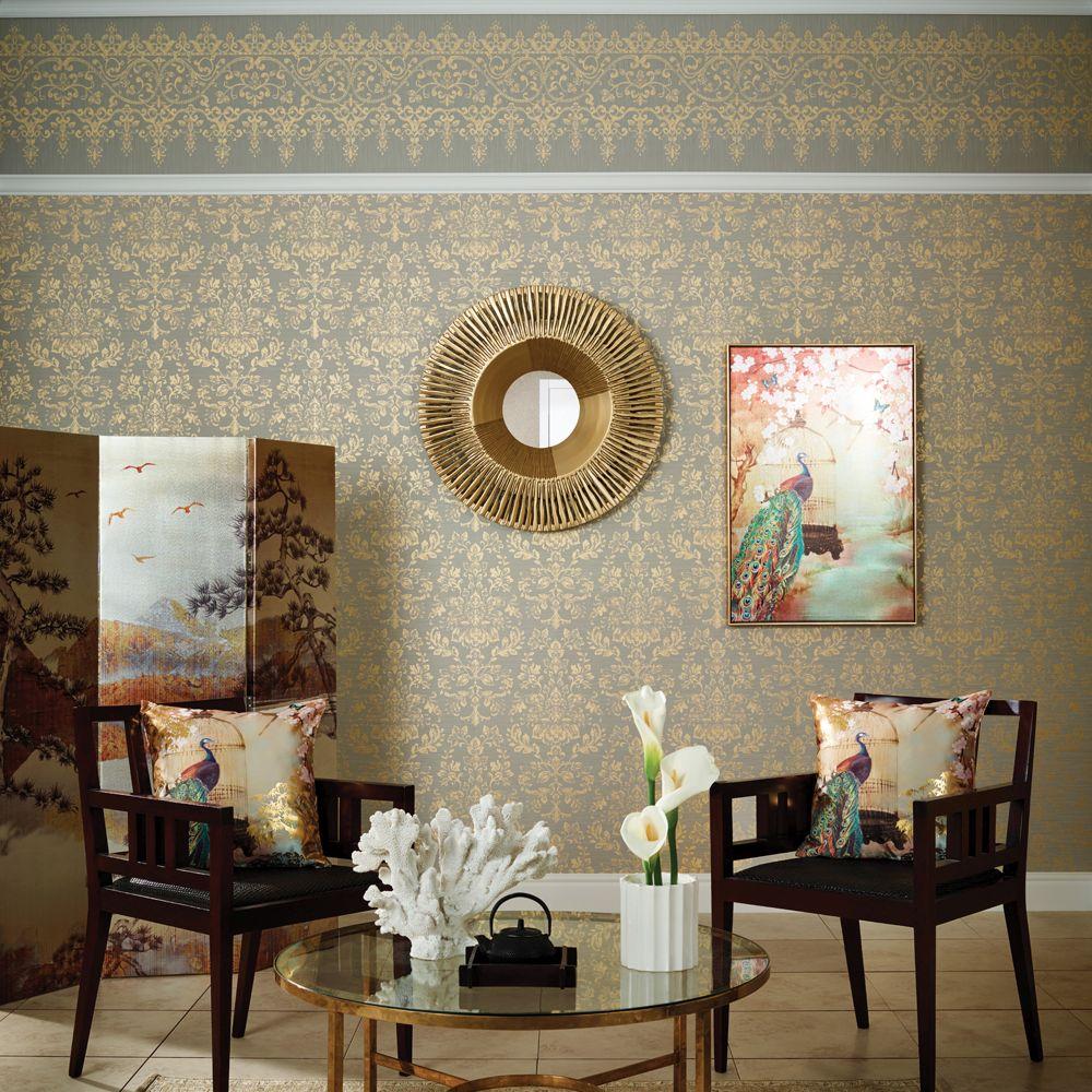 Arthouse Frieze Kyasha  Gold Border - Product code: 293207
