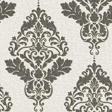 Albany Hadrian Damask Dove / Charcoal Wallpaper
