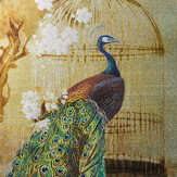 Arthouse Suki Peacock Framed Canvas Gold Art