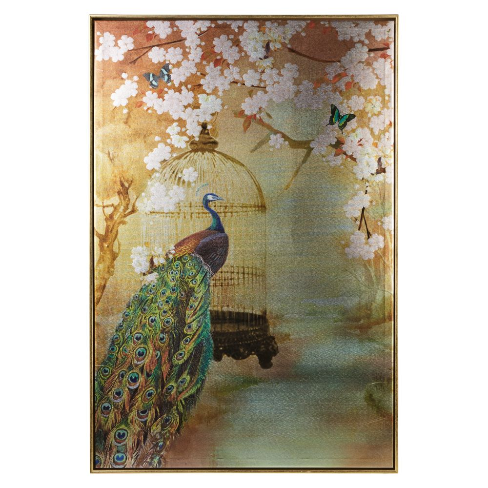 Arthouse Suki Peacock Framed Canvas Gold Art - Product code: 004758