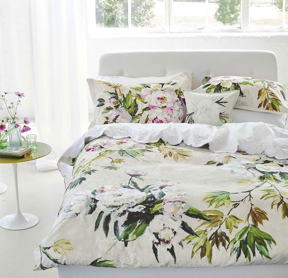 Designers Guild Floreale Grande Embroidered Cushion extra image