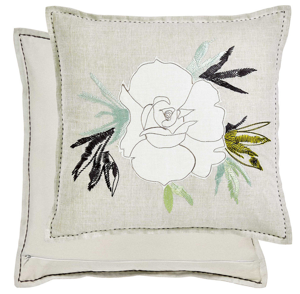 Designers Guild Floreale Grande Embroidered Cushion main image