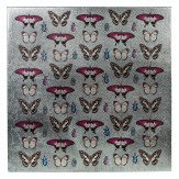 Arthouse Kyasha Butterflies Metallic Canvas Art