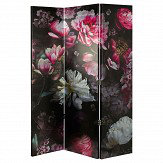 Arthouse Momoka Floral Screen Pink Multi-coloured Room Divider