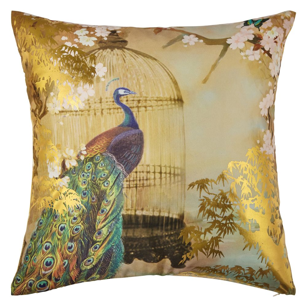 Suki Gold Foil Cushion By Arthouse Gold Cushion