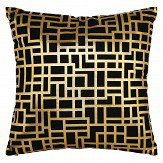 Arthouse Satoni Black and Gold Cushion Black / Gold