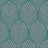 Albany Gatsby Teal Wallpaper