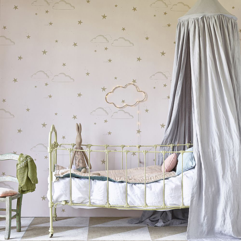 Starry Sky Pr/G Wallpaper - Pale Rose / Gold  - by Hibou Home