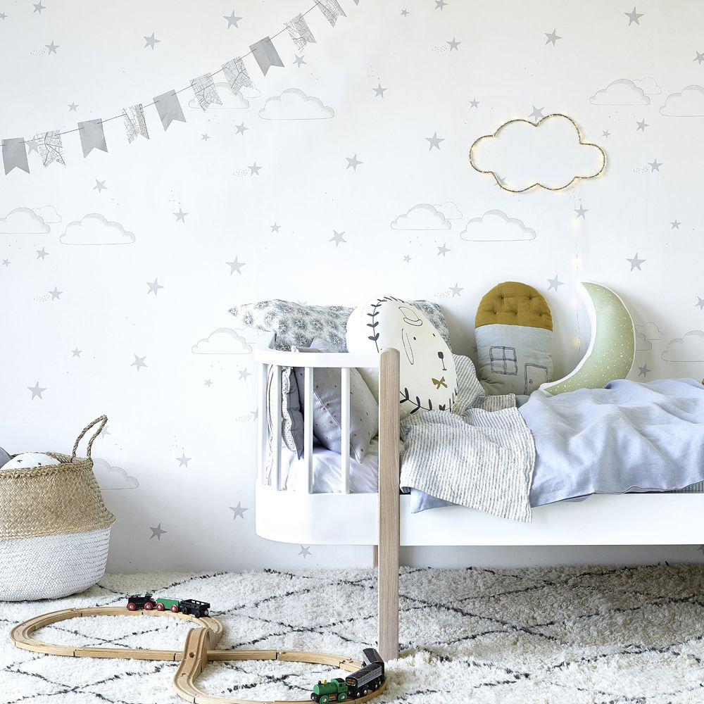 Hibou Home Starry Sky S/W Silver / White Wallpaper - Product code: HH01202