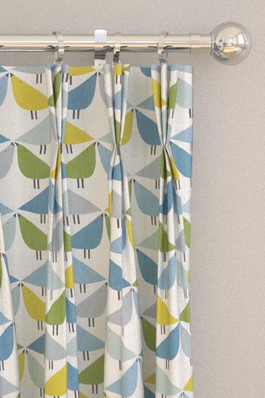 Lintu Curtains By Scion Gecko Pacific Glacier