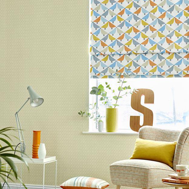Lintu Fabric - Satsuma / Sky / Pebble - by Scion