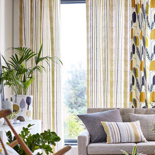Scion Noki Ochre / Hemp / Charcoal Fabric - Product code: 132152