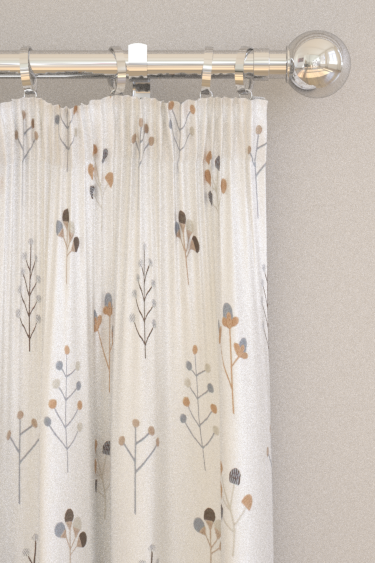 Scion Mukula Slate / Biscuit / Charcoal Curtains - Product code: 132156