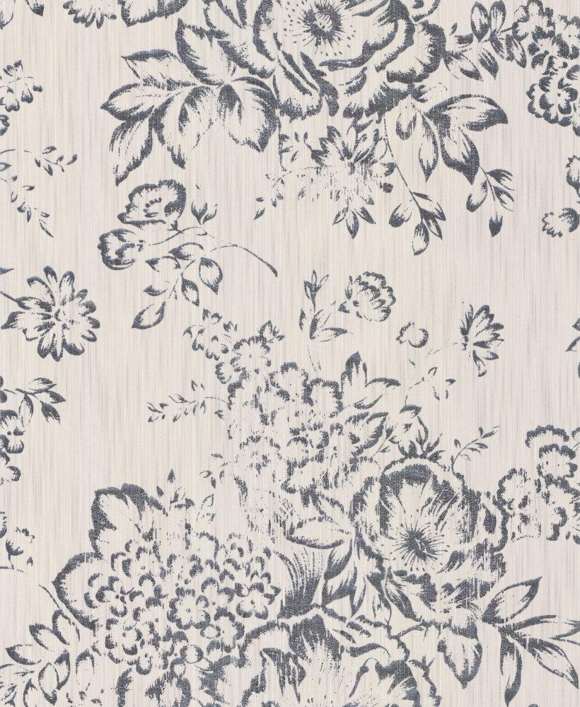 Architects Paper Foil Floral Opal White Wallpaper main image