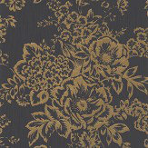 Architects Paper Foil Floral Black / Gold Wallpaper