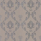 Architects Paper Silk Damask Taupe Wallpaper