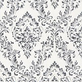 Architects Paper Foil Damask Opal White Wallpaper