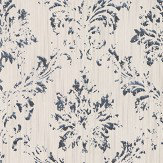 Architects Paper Distressed Damask White Wallpaper