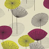 Sanderson Dandelion Clocks Blackcurrant Wallpaper
