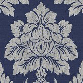 Albany Salvador Navy Blue Wallpaper
