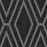 Albany Shimmer Diamond Black Wallpaper