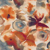 Harlequin Flores Rust / Ruby / Nordic Blue Fabric