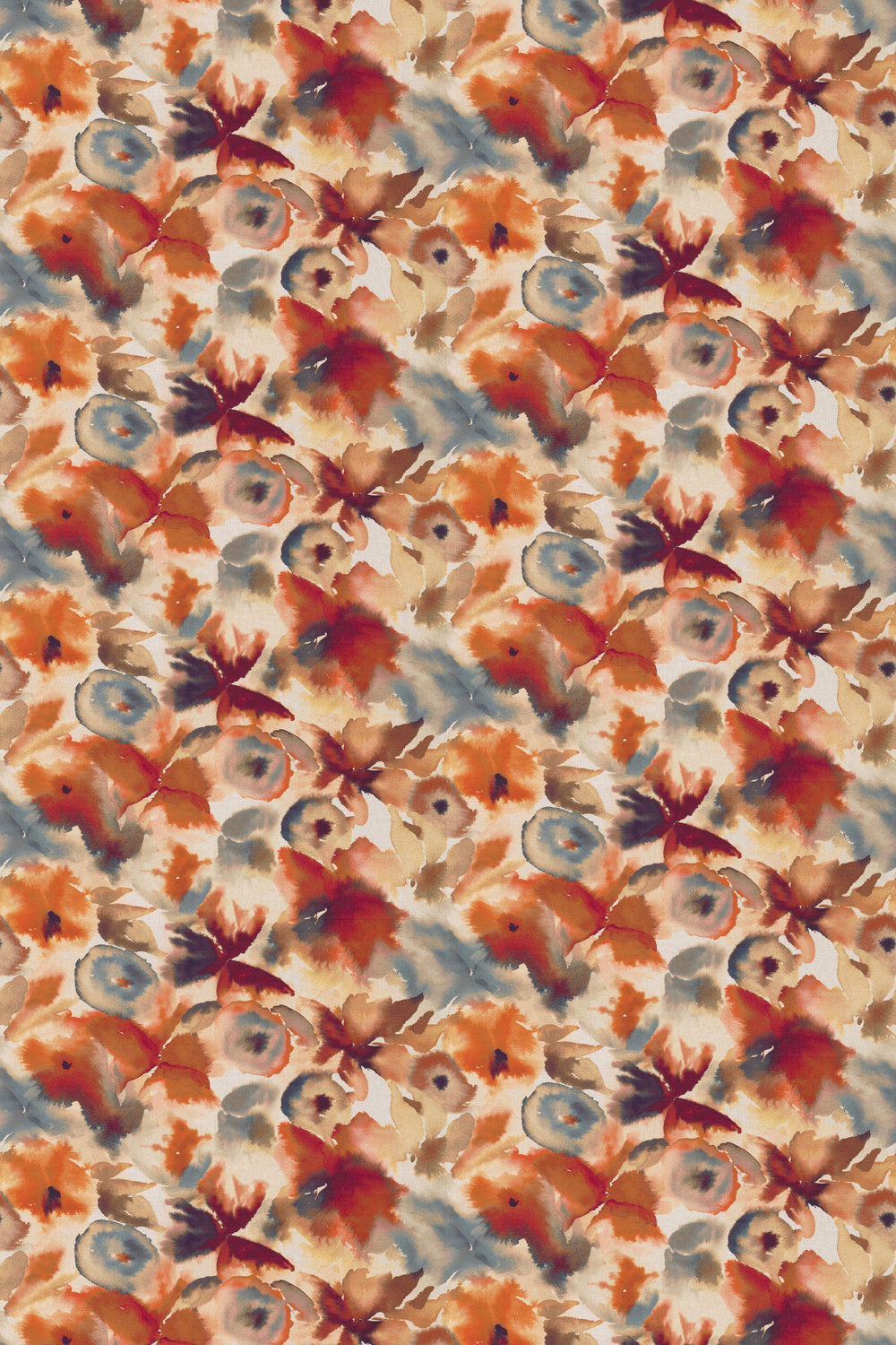 Harlequin Flores Rust / Ruby / Nordic Blue Fabric - Product code: 120576