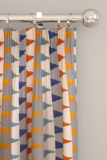 Harlequin Azul Rust / Navy / Nordic Curtains - Product code: 132013