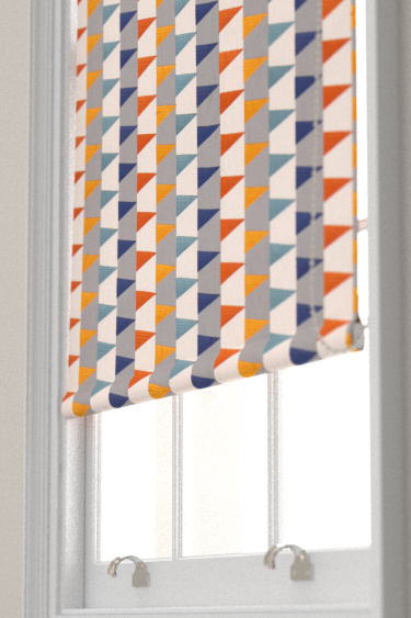 Azul Curtains By Harlequin Rust Navy Nordic Fabric