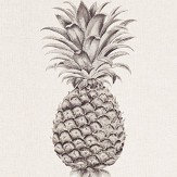 Sanderson Pineapple Royale Graphite / Linen Fabric