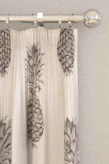 Sanderson Pineapple Royale Graphite / Linen Curtains
