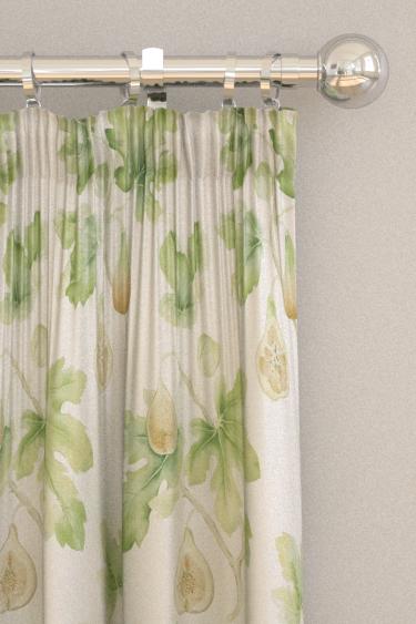 Sanderson Fig Harvest Garden Green Curtains