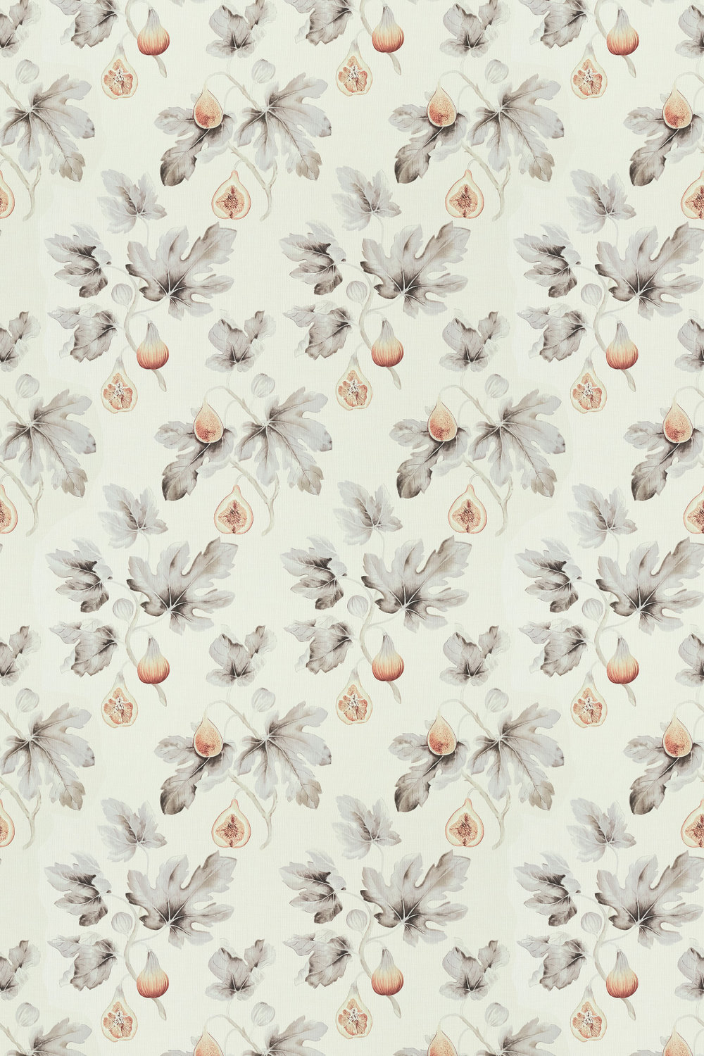 Fig Harvest Fabric - Sepia / Grey - by Sanderson