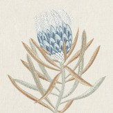 Sanderson Protea Flower China Blue / Linen Fabric