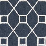 Sanderson Baroque Trellis Indigo Fabric